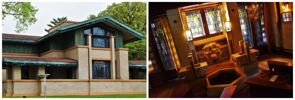 At the Dana-Thomas House we were able to see the work of famed architect Frank Lloyd Wright.