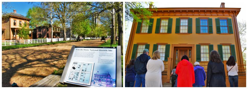 We enjoyed exploring all of the historic homes located around the Lincoln house.