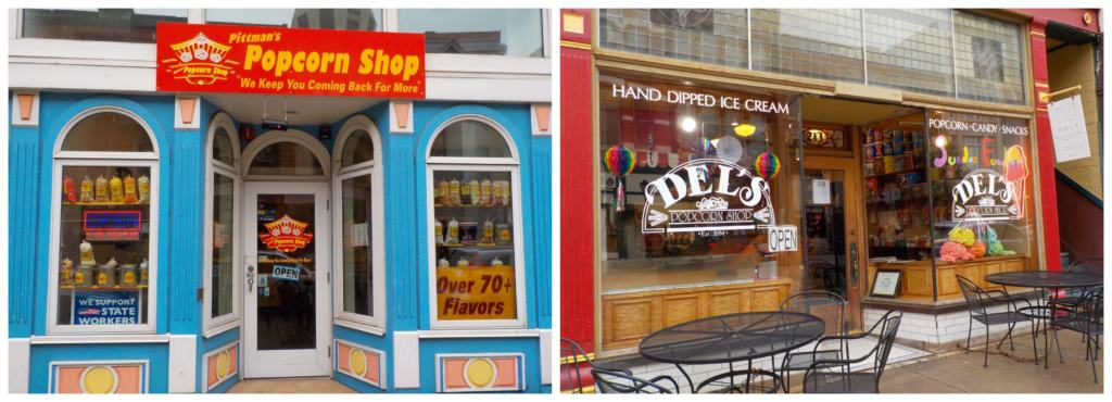 The old and new coexist in popcorn shops along the famed Route 66 in downtown Springfield, Illinois.