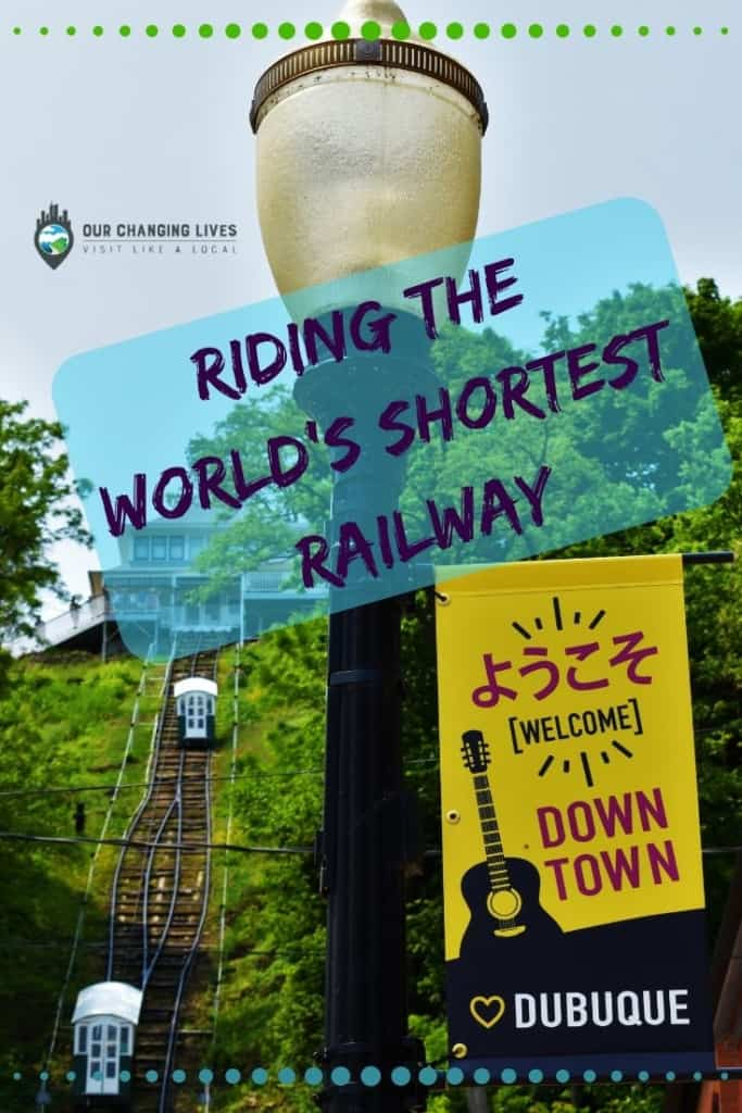 Riding the World's Shortest Railway-downtown Dubuque-Iowa-Fenelon PLace Elevator-attractions-railway-elevator