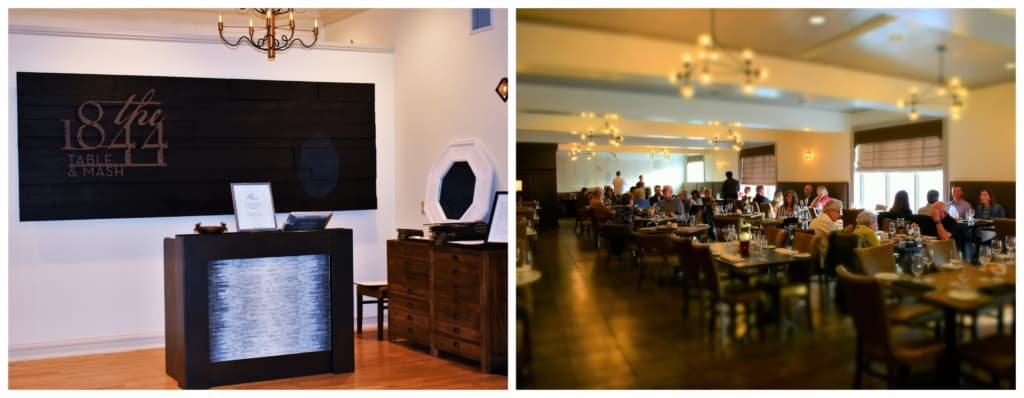 Located inside of the Stella Hotel & Ballroom, the 1844 Table & Mash is a destination dining experience.