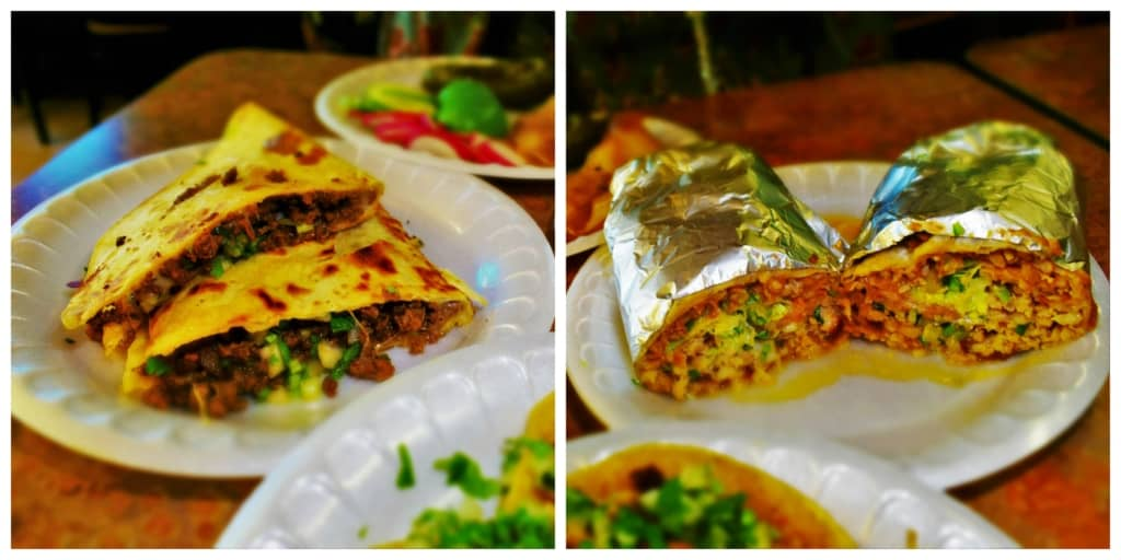 A couple of the handheld options available at Tacos El Tio in downtown Kansas City, Kansas