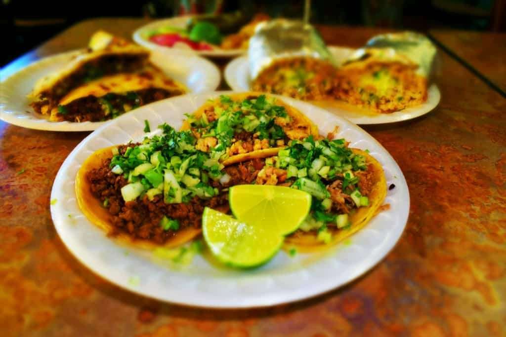 Backyard dining, in KCK, can include some delicious Mexican Street Tacos.