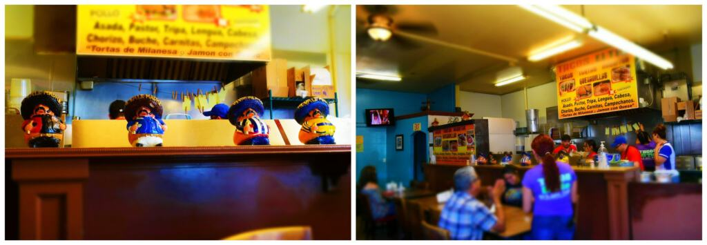The interior of Tacos El Tio is a small but popular place with the locals.