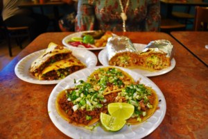 An assortment of dishes make for more than a meal at Tacos El Tio.