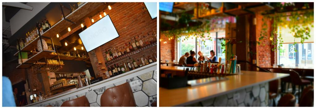 The upscale casual interior of Tribe Street Kitchen is an inviting space to City Market diners.