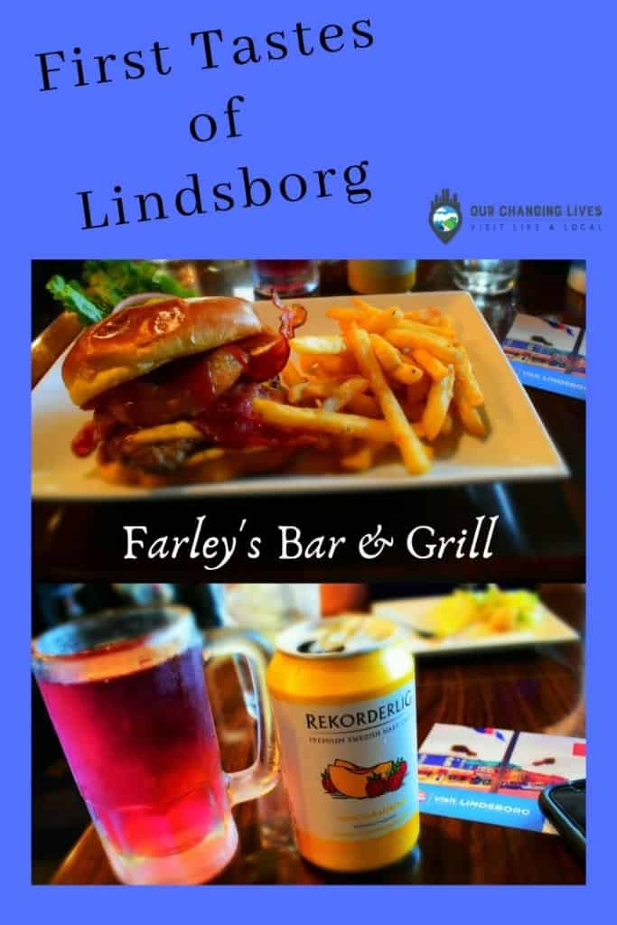 First tastes of Lindsborg-Farley's Bar & Grill-restaurant-burgers-chicken tenders-hard cider-Little Sweden USA