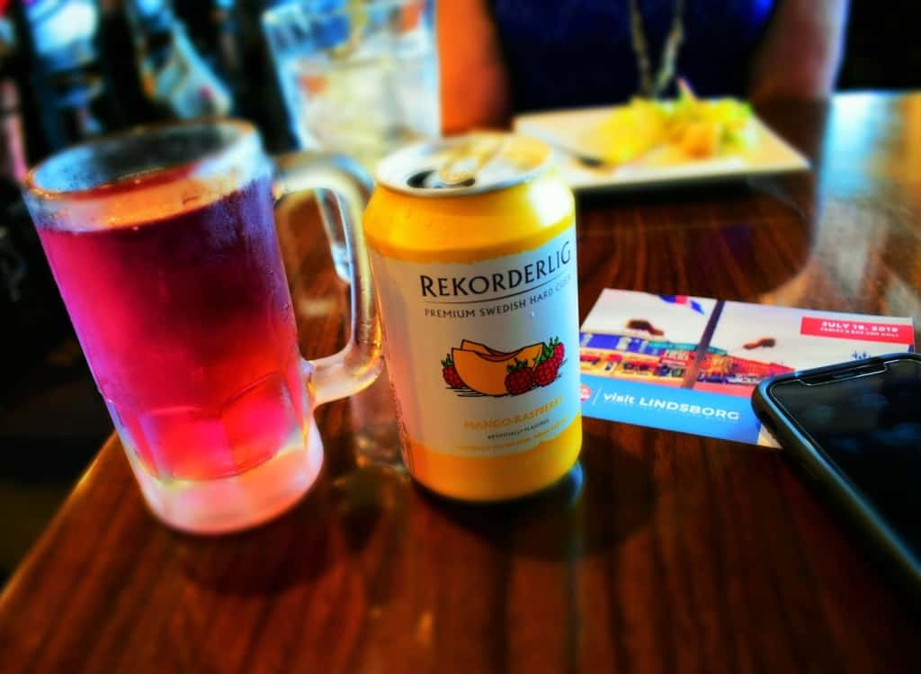 Sampling a Mango-Raspberry hard cider was one of our first tastes of Lindsborg.