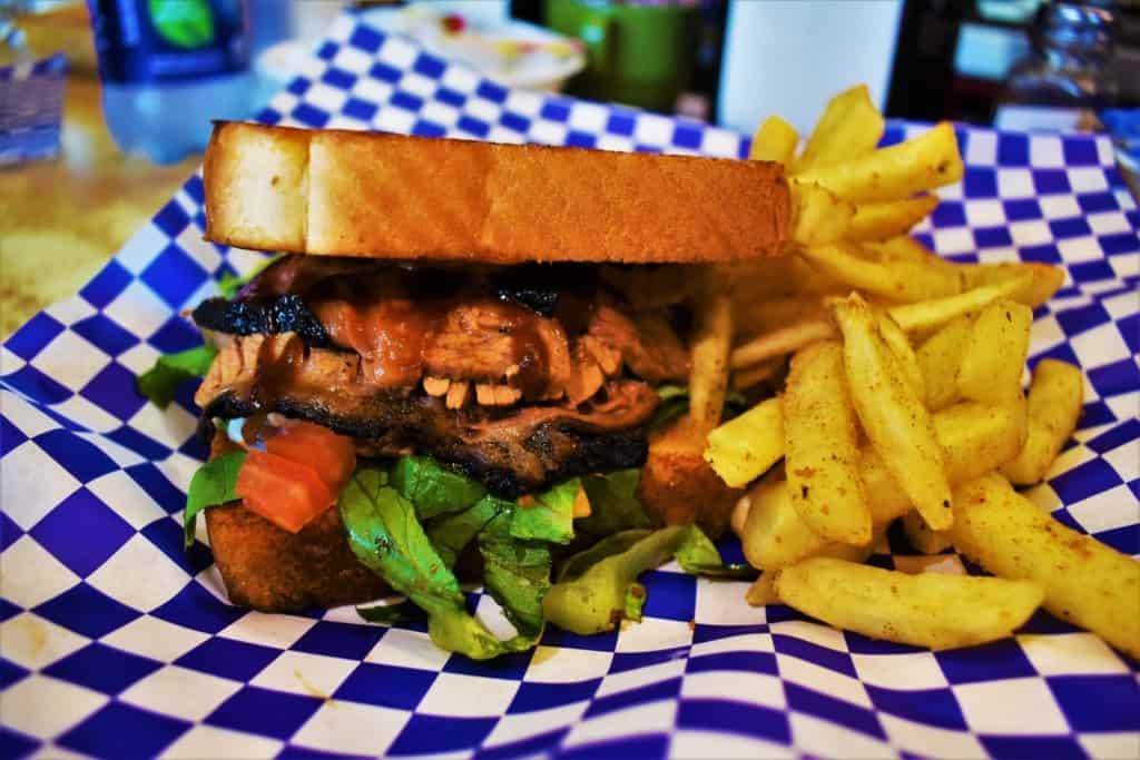 The Brisket Sandwich was just as delicious looking in person as it is in the picture on the menu.