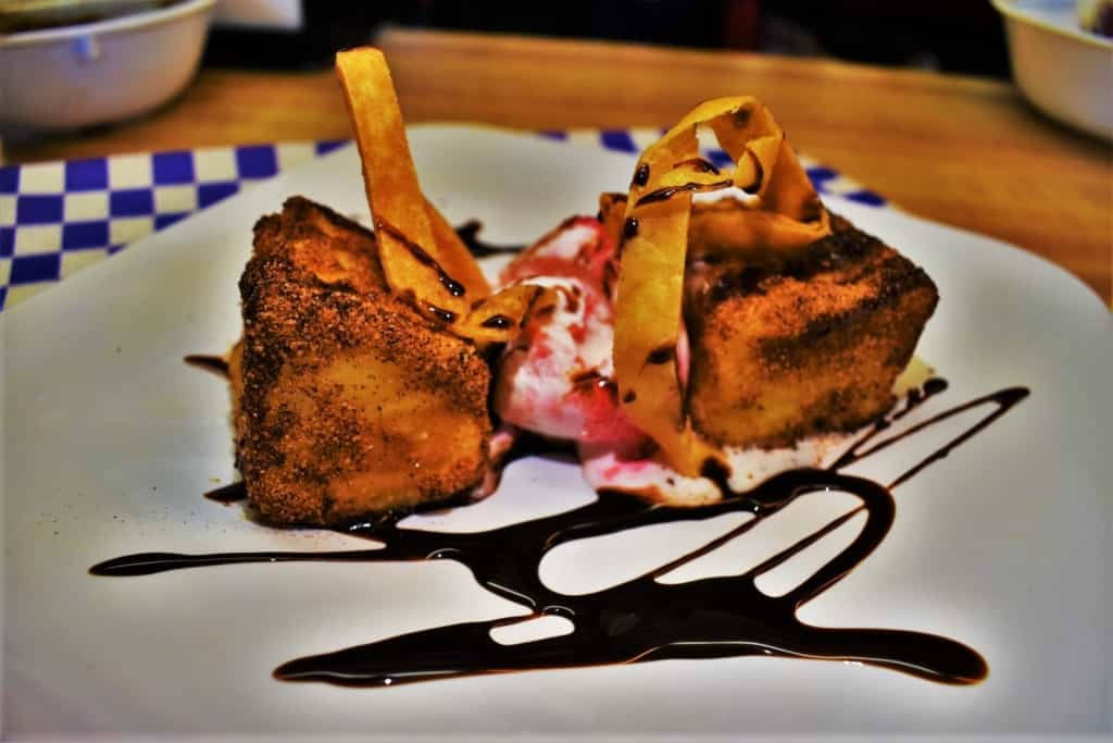 An order of Fried Milk is a chef inspired cuisine dish at GG's Barbacoa Cafe, in Kansas City, Kansas.