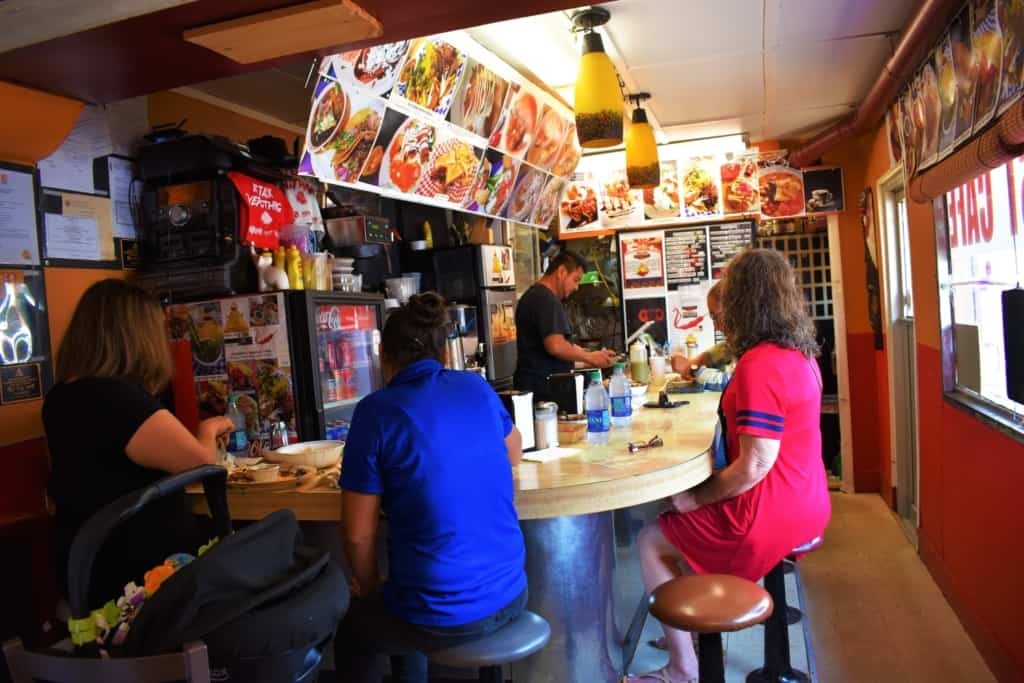 The seating at GG's Barbacoa Cafe is tight, but creates a cozy, intimate feeling for diners.
