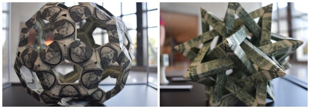 It is interesting to see the unique geometric shapes created using origami.