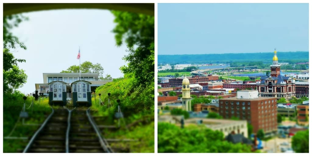A ride on the Fenelon Place Elevator gave us a chance to discover Dubuque views that aren't available at the bottom of the bluffs.