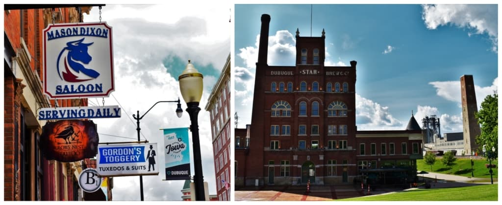 Strolling the streets of downtown Dubuque offers a walk back in history.