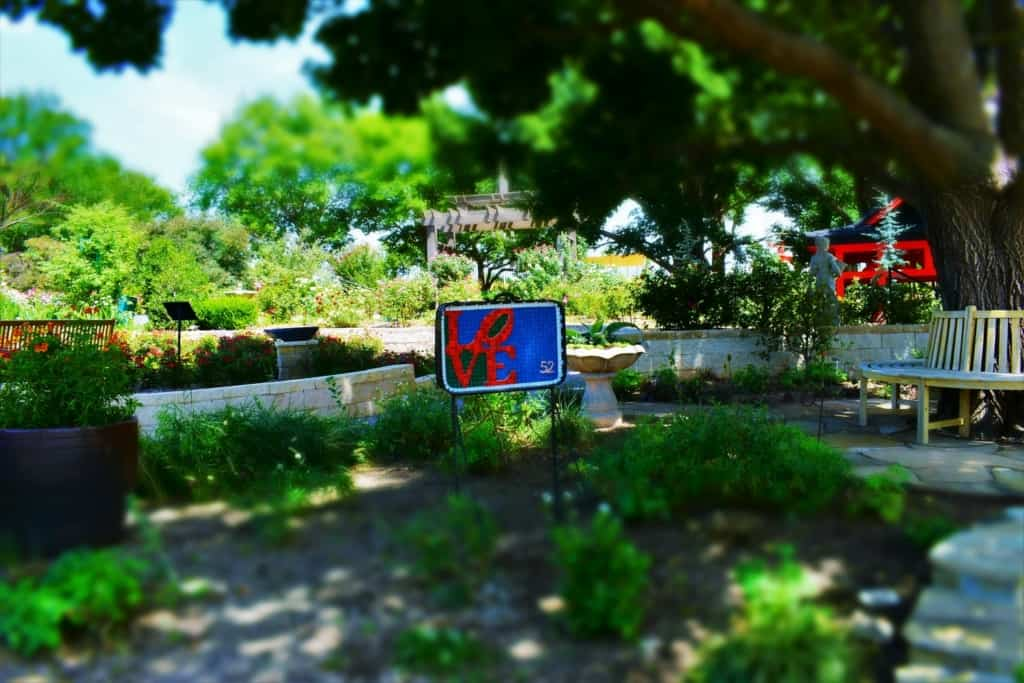 Much like the sign says, we love the plants we found at the Amarillo Botanical gardens.