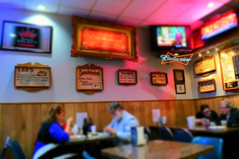 You will find plenty of St. Louis style pizza at Leo's Pizza in Kansas city, Missouri.