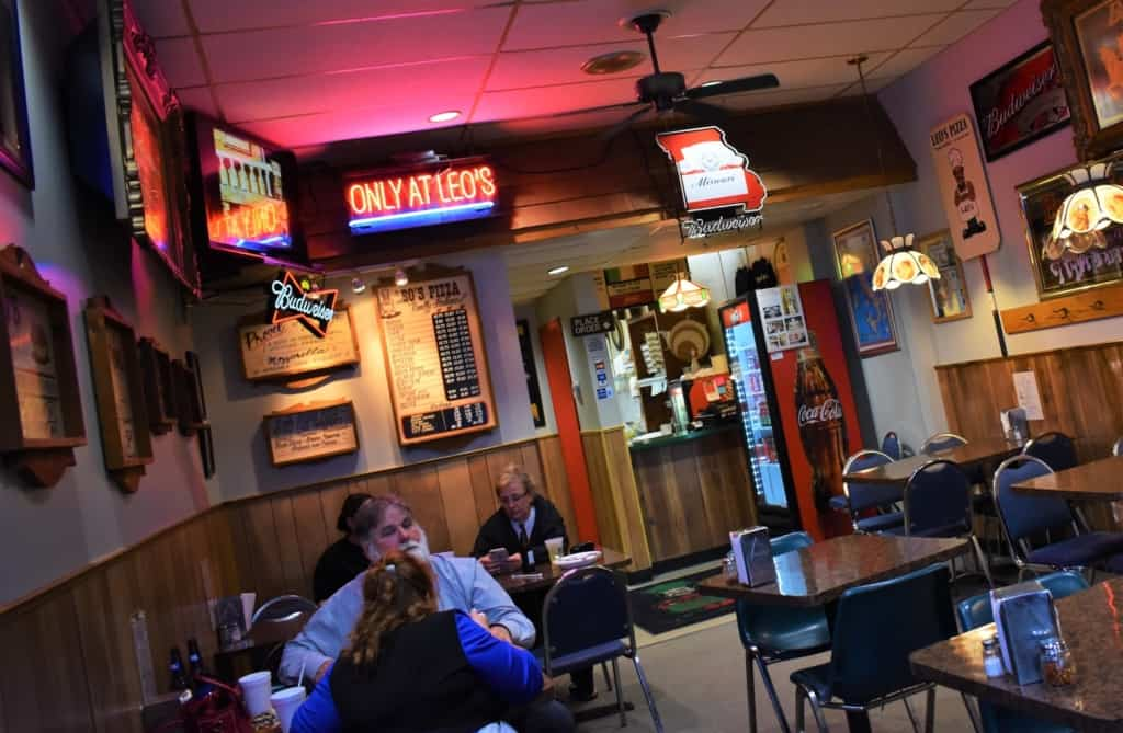 It's all about being comfortable at Leo's Pizza in the Northland.