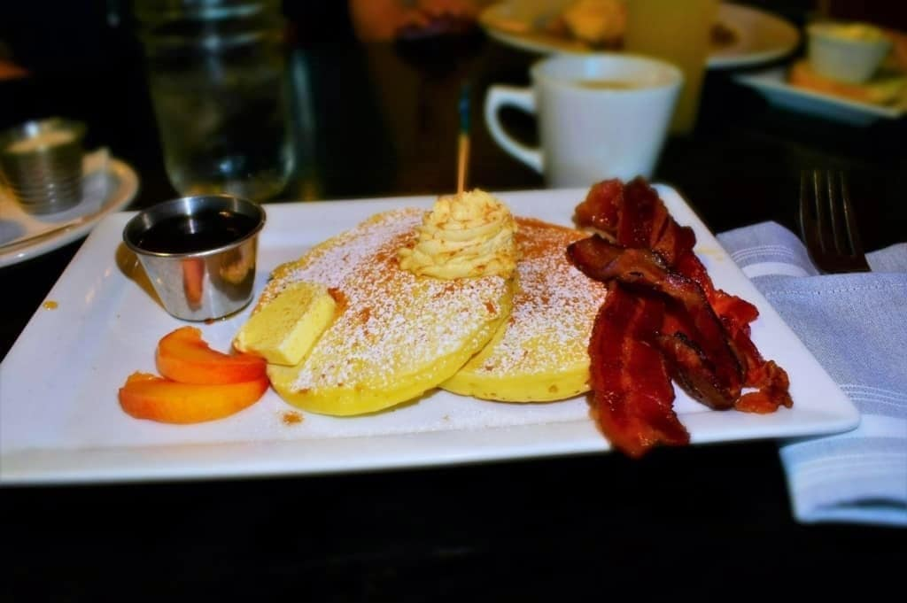 The Peach Pancakes are a delectable seasonal offering at The Farmhouse.