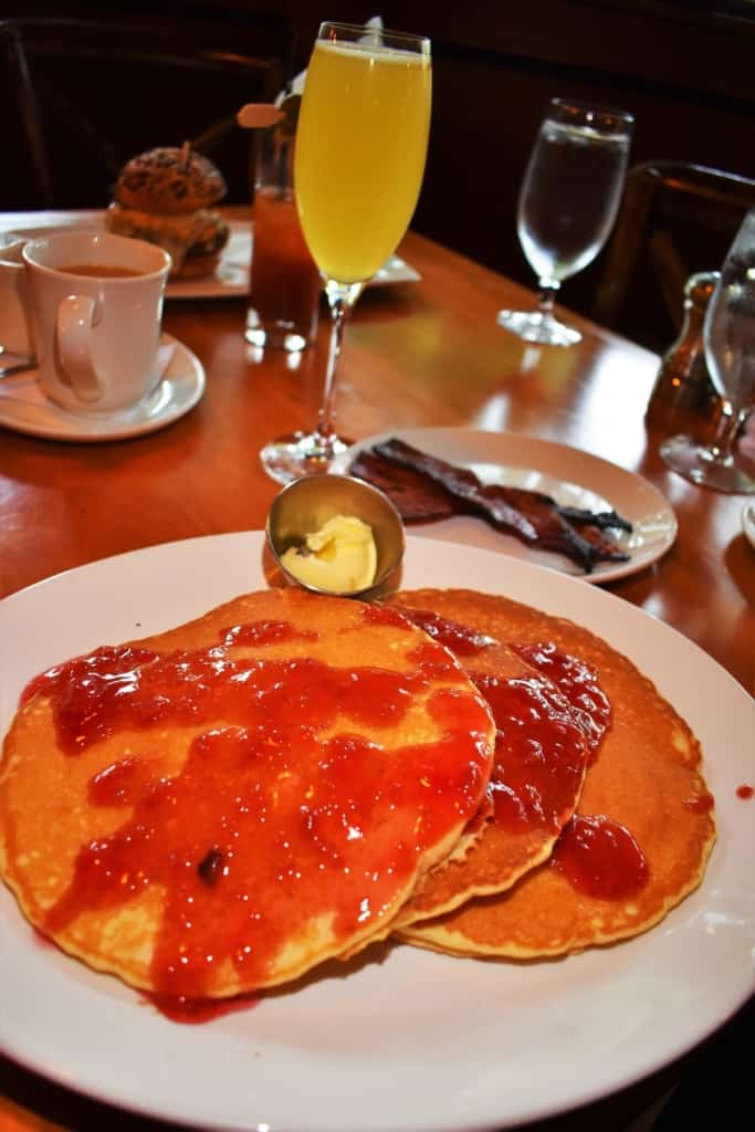 Buttermilk Pancakes are taken to a new level with a berry compote.