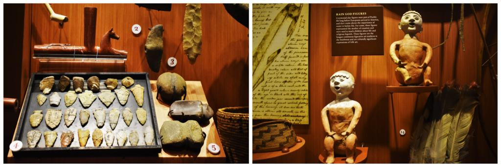 There are plenty of artifacts from native Indian tribes at the Mississippi river Museum in Dubuque, Iowa.
