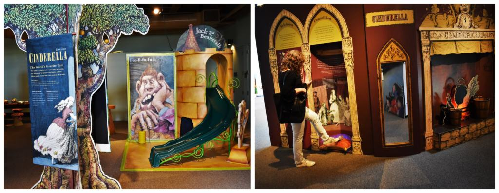 Fairy tales and fantasies were easy to find as we explored the traveling exhibit.