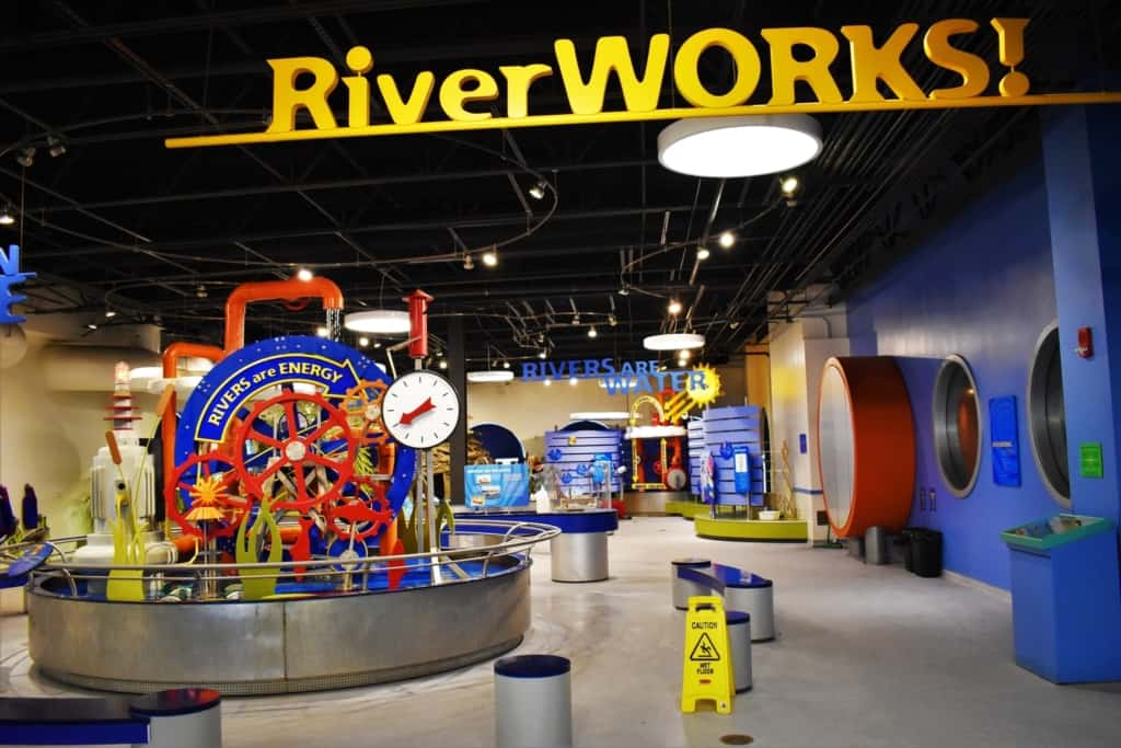 In the Riverworks exhibit we learned about how rivers flow.