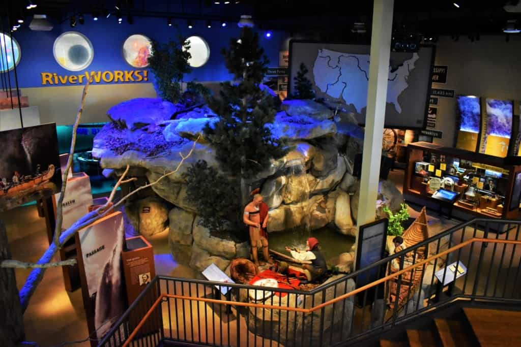 The design of the National Mississippi River Museum and Aquarium allows for a ton of exhibits.