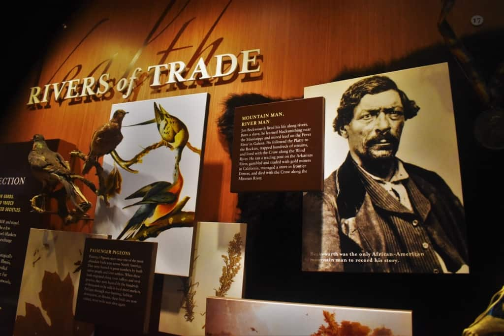 In the Rivers of Trade exhibit, we saw artifacts from those pioneers and explorers who first used nature's highways to travel through the continent.