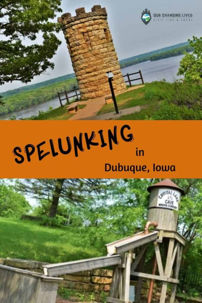 Spelunking-Dubuque, Iowa-Crystal Lake Cave-Mines of Spain-Julien Dubuque