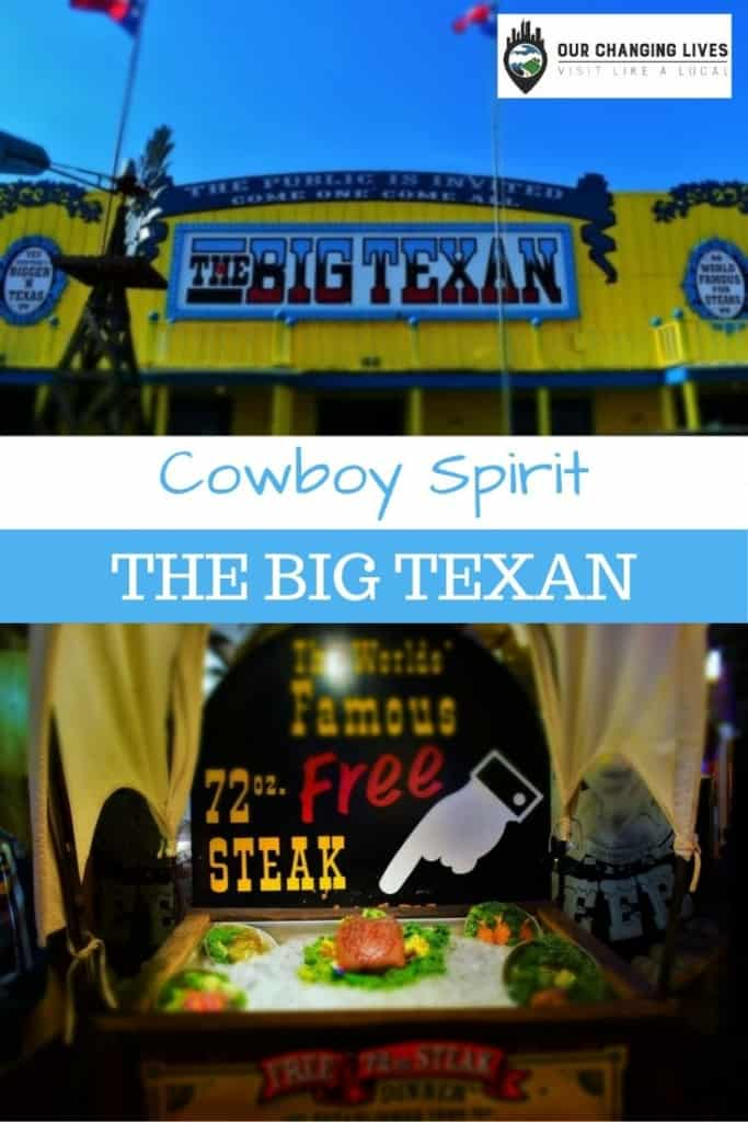 Cowboy Spirit-The Big Texan-Amarillo, Texas-72 oz. steak challenge-Route 66-Mother Road-steakhouse