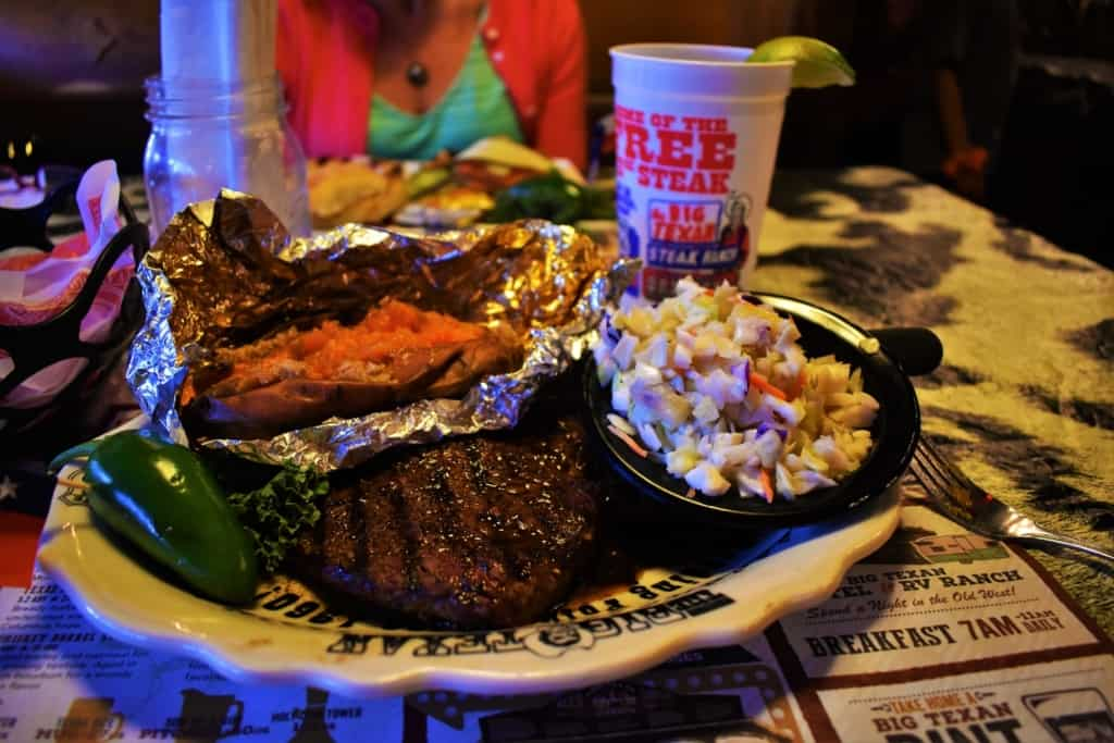 I found the 8 oz. sirloin to be tender and delicious at The Big Texan.