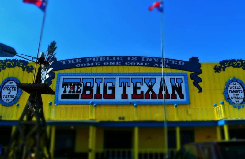 There is plenty of cowboy spirit to be found inside of The Big Texan, including the ability to get huge slabs of cooked beef.