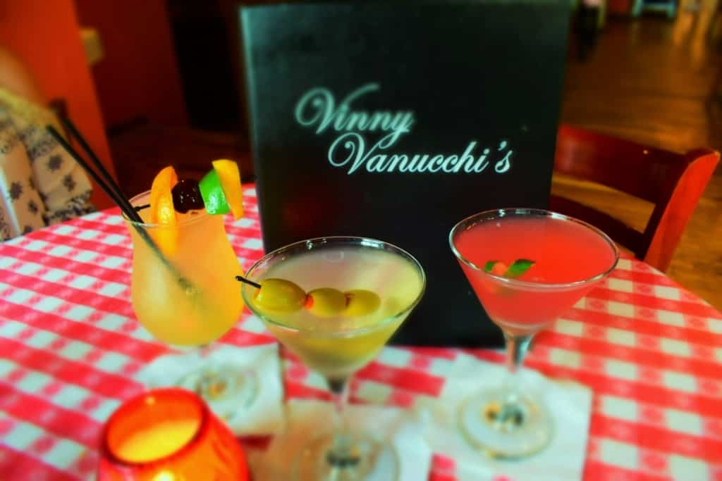 The drinks are decorative and delicious at Vinny Vanucchi's.