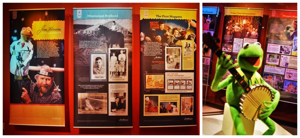 The Jim Henson exhibit showed us the story about this famous puppeteer.
