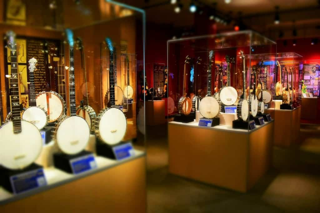 We found hundreds of banjos on display at the American banjo museum in Bricktown.