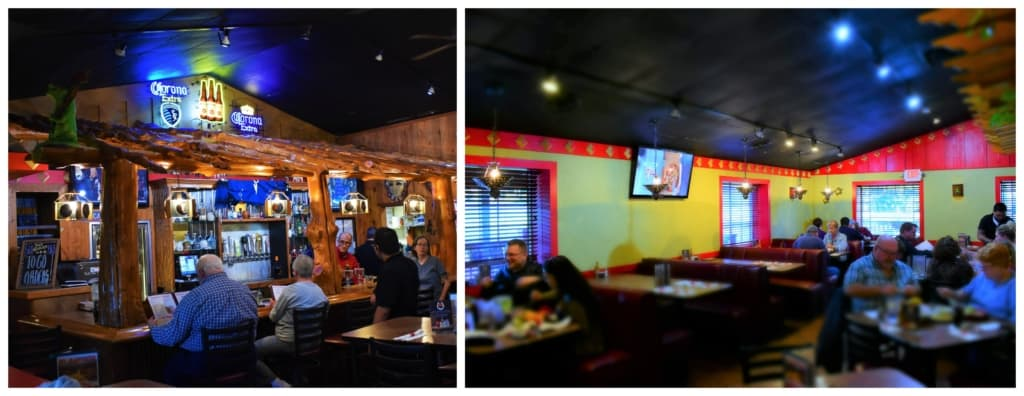The interior design, at Mi Ranchito, feels like they brought the hacienda to the heartland.
