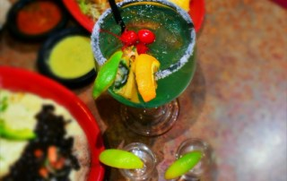 We love the bright colors of the drinks and dishes at Mi Ranchito.