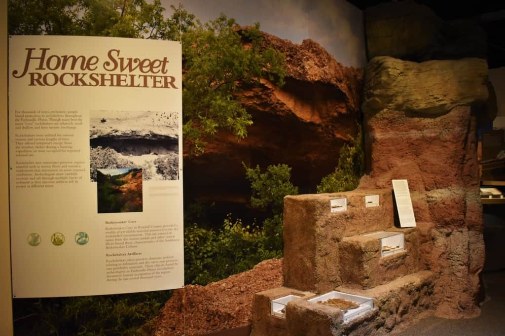 Many of the nomadic travelers would seek out shelter from the rock shelters found in the high plains region of Texas.