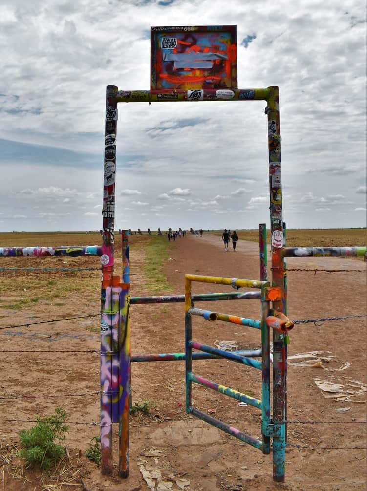 When we stopped at the Cadillac Ranch, we found an ever changing landscape.