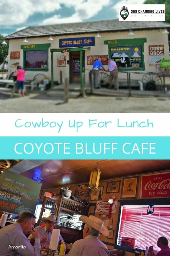 Coyote Bluff Cafe-Cowboy Up for Lunch-burgers-Amarillo Texas-Route 66