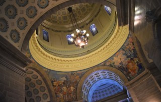 The rotunda, at the Missouri Capitol, is an architectural masterpiece.