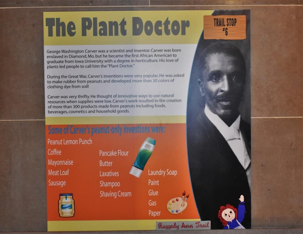 George Washington Carver was an important figure in agricultural development.