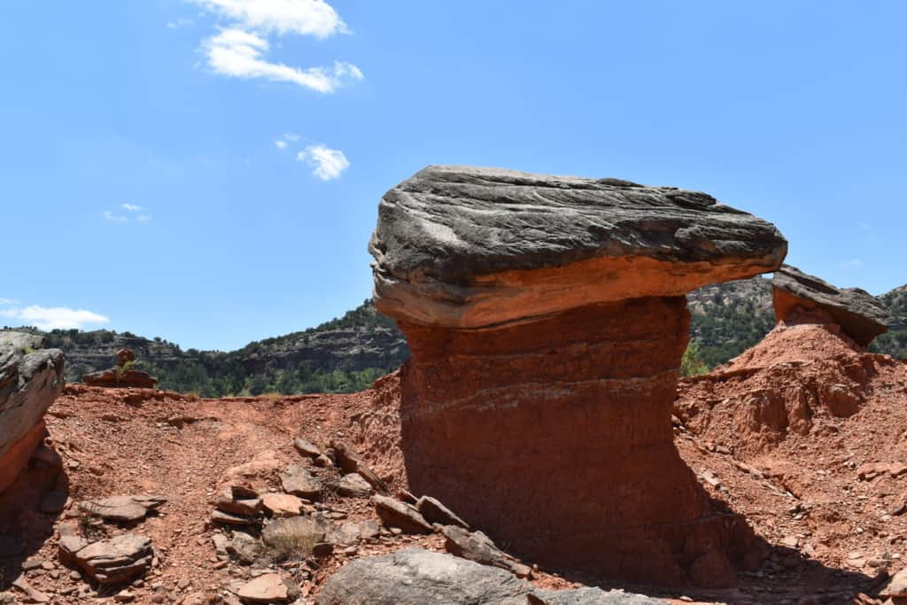 One of the hoodoos that create an unforgettable landscape at Palo Duro Creek ranch.