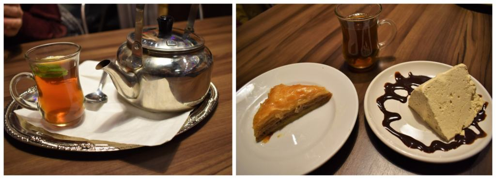 Tea and dessert are a great way to wrap up a meal at Jerusalem cafe in Westport.