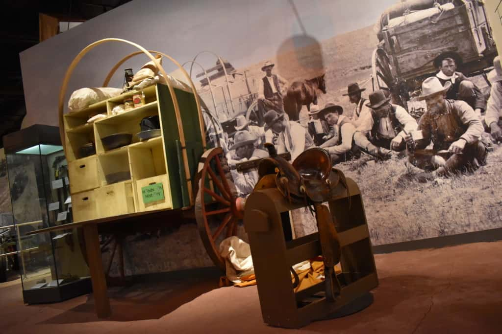 On of the interactive exhibits at the Oklahoma History Center allows visitors a chance for touching the past.