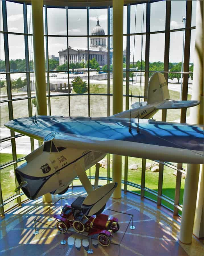 With a view of the state capitol in the background, the main gallery of the Oklahoma History Center has awe inspiring views.
