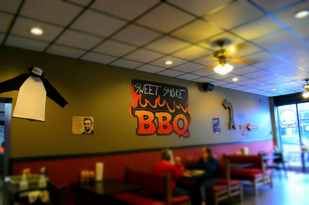 The decor is simplistic, as he let the food do the talking at Sweet smoke BBQ.