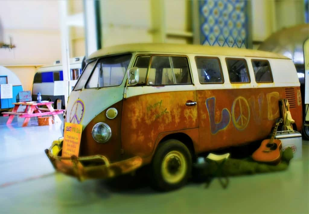 Seeing an old VW Microbus reminded us of our days of old, when camping was done even during the gas shortage.