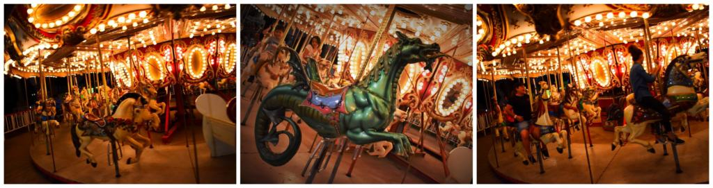A merry-go-round is family friendly entertainment for all ages.