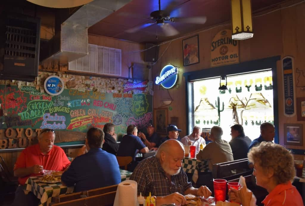 Lunch at Coyote Bluff Cafe is a chance to dine with the locals in Amarillo, Texas.